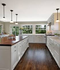 Best Images About Home Decor On Pinterest Islands Cabinets - White kitchen cabinets with butcher block countertops
