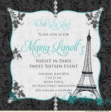 eiffel tower invitations in 16th birthday invitation pink custom event european