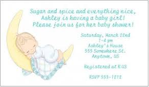 personalized precious moments baby shower invitations