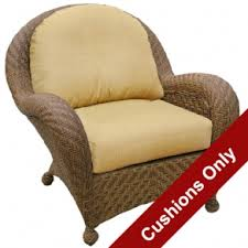 wicker deep seating chair cushions