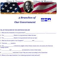 3 branches of our government 6th 12th grade worksheet lesson