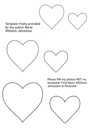 make a heart garland with free printable heart templates