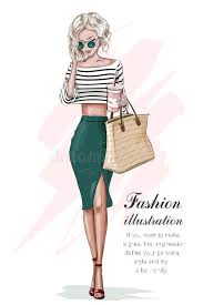 beautiful clothes stylish girl in fashion clothes with bag and coffee cup