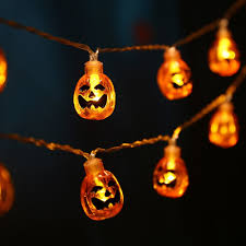 Halloween Lights For Sale Amazon Com Qedertek Battery Powered 3d Pumpkin Halloween String