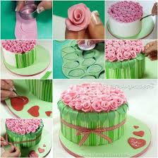 cake diy how to diy bouquet of roses cake decoration