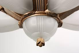stunning antique six light art deco slip shade chandelier nc911