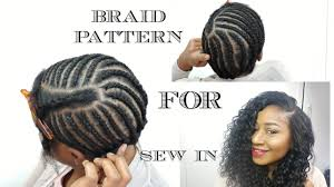 best wayto have a weave sown in for short hair braid pattern for sew in weave diy youtube