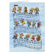 music notes song for kids christmas greeting card zazzle com