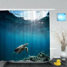 custom printed shower curtain discountant net full image for suspended shower curtain rod sea turtle floating over ocean bathroom shower curtain marine