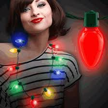 flashing christmas light necklace light up necklaces magic matt s brilliant blinkys