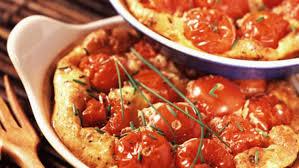 cuisiner les tomates cerises clafoutis de tomates cerises facile et pas cher recette sur