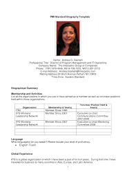 Resume Samples Volunteer Positions by Resume Bio Sample Resume For Your Job Application