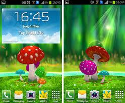 wallpaper 3d mushroom mushroom hd live wallpaper for android gendiswallpaper com