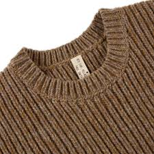 paul smith men u0027s brown and grey zig zag seam lambswool sweater in