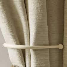 Wooden Curtain Holdbacks Uk Cream Metal Ball End Holdback Laura Ashley
