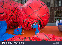 thanksgiving parade in houston new york usa 28th november 2013 the spiderman balloon is