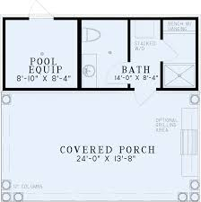 house plans with pool poolhouse plans 1495 poolhouse plan with bathroom