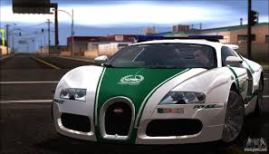 bugatti veyron 16 4 dubai police 2009 for gta san andreas