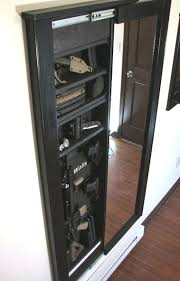 in wall gun cabinet hidden safe full size safe hidden in custom cabinet hidden wall gun