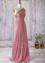 Dusty Rose Wedding Dress Long Light Blue Bridesmaid Dress Chiffon Maxi Dress Ice Blue