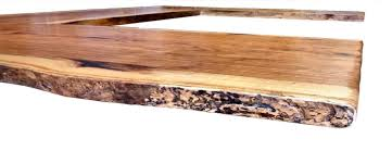 natural edges wane edges on custom wood countertops and table tops