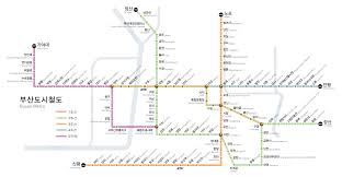 Green Line Metro Map by Subway Busan Metro Map South Korea