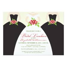 bridal luncheon invites bridal luncheon invitations announcements zazzle
