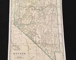 map of nevada map of nevada etsy