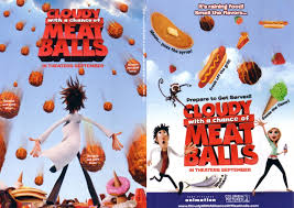 cloudy chance meatballs movie 5x7 scratch sniff