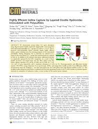 Argonne National Laboratory Map Highly Efficient Iodine Capture By Layered Double Hydroxides