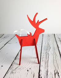 alpine reindeer ornament silver in the city