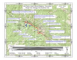mt lemmon hiking trails map trail incinerator ridge trail kellogg trail mount bigelow
