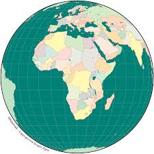 maps for globe africa simple map globe mapsof net