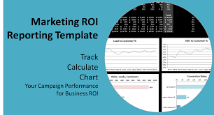 Roi Worksheet Roi In Digital Marketing A Report Template To Track Calculate