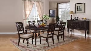 Muenchen Furniture Cincinnati Ohio by Zora Dark Brown Beige Wood Dining Room Set Cosmos Furniture