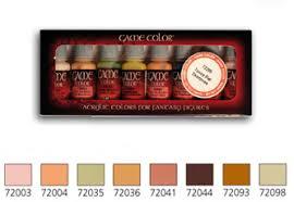 game color box set 8 paints 17ml skin tones