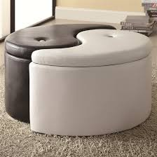 Yin Yang Table by Ying Yang Black U0026 White Storage Ottoman By Coaster 501104