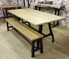 dining tables rustic metal and wood dining table steel dining