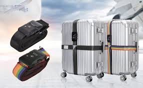 travel luggage images Tsa travel luggage strap with 3 dial approved lock jpg