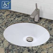 decolav 1412 cwh oval undermount vitreous china bathroom sink