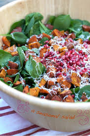 sweet potato bacon pomegranate salad marla meridith