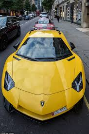 exotic cars lined up london u0027s streets clogged up by supercars as their rich owners