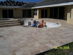 3 000 square foot pool deck was covered with a chiseled edged