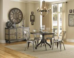 casual dining room sets casual rustic 7 dining table and chairs set by liberty room