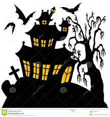 haunted house clipart free silhouette spooky house 02 royalty free stock images image 34548739