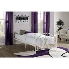 Twin Bed Dhp Bombay White Twin Bed Frame 3246098 The Home Depot