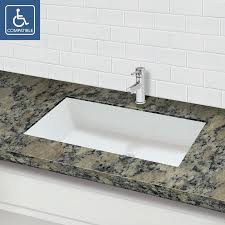 solid surface bathroom sinks decolav sondra solid surface other rectangular undermount bathroom