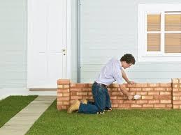 how to build a brick garden wall diy