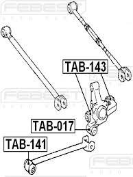 white lexus tab amazon com febest tab 143 rear arm bushing assembly automotive