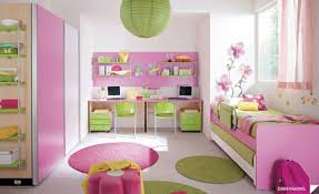 interior great ideas in girls bedroom decoration using pink wood